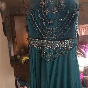 Custom made formal dress. Frozen theme.